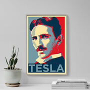 Nikola Tesla Art Print And039hopeand039 - Photo Poster Gift - Science Inventor Coil