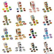 100 Sticker Roll For Kids 1.5 Inches Each 19 Choices Volume Discount Abcraft