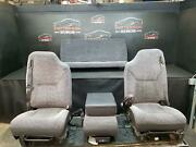 2000 Dodge Ram 1500 Front And Rear Manual Cloth Seat Gray Agate Trim Code R1az