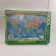 Map Of The World Eurographics 1000 Pc Jigsaw Puzzle 19.25 X 26.6 Sealed