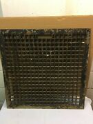 Vintage Cast Iron Floor Grate Furnace Cold Air Return Vent 22 By 22 Opening