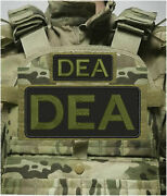 Dea Embroidery Patch 4x10 And 2x5 Hook On Back Blk/od Green