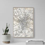 Vintage Map Of Bradford From 1851 Photo Print Poster Gift Old Ancient Historic