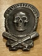 Imperial German Wwi Stormtrooper Silver Badge Hallmarked 800h 2 1/8 X W 1 1/4andrdquo