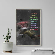 Rugby Motivational Poster 04 If You Want The Best... Art Print Quote Gift