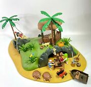 Playmobil 3799 Turtle Island Pirates Tropical Ocean Playset Lot - Good Condition