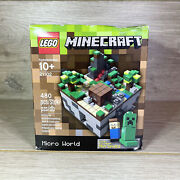 Lego 21102 Minecraft Micro World Steve Creeper Micromobs | Retired | New Sealed
