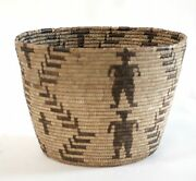 Antique Collectible Papago Native American Large Basket 10 1/2 H X 15 W