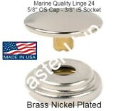 Dot Brass Nickle Plated Snap Set Cap And Socket Marine Canvas Quality Free Ship