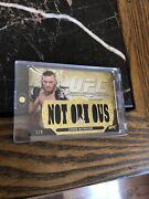 Conor Mcgregor 2014 Topps Ufc Knockout Fighter Warren Relic Card Notorious 1/9