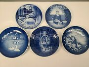 Georg Jensen Collector Plates Lot Of 4 Plus 1