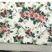 Waverly Pleasant Valley Berries Floral Drapery Panel Tieback And Window Valance