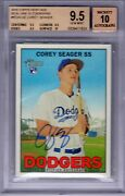 2016 Topps Heritage Real One Auto. Corey Seager Rc 7 Hrs Bgs 9.5/10 True++