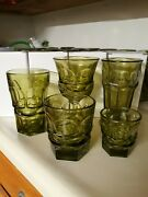 32 Pieces Old But New Fostoria Green Argus Glasses Assortment