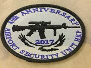 Genuine Hkp Airport Security Unit Asu Embroidered Emblem Trf/patch/badge C Type