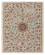 5x6 Ft Central Asian Suzani Textile. Embroidered Cotton And Silk Bed Cover
