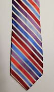 Beautiful Shades Of Red White And Blue 100 Silk Neck Tie Wedding Romantic T-12