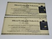 Pair Of Lindenwoldand039s 10k Gold Ingots With Certificates
