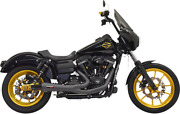 Bassani Ripper 2-into-1 Black Exhaust System For 2006-2017 Harley Dyna Fxd 1d6b