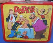 Vintage Aladin 19808 Popeye Full Size Lunch Box No Thermos As Is