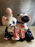 Extremely Rare Lefty 2000 And Righty 2000 Retired Beanie Baby's