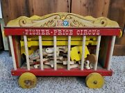 Antique Vintage 1960s Fisher Price Wood Circus Wagon