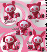 Skelanimals Deluxe 10 Lovestruck Plush - New Old Stock With Tags.- 6 Choices