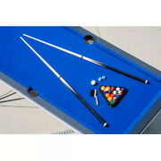 Pool Table 6and039 Portable Foldable Billiard Game Set Blue Accessories Included