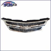For Front Grille Chrome Black 2015-2020 Chevy Tahoe Suburban