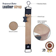 Pure Cow Leather Strop Sharpening And Honing Strap For Razor Blades And Knives