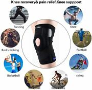 Medical Adjustable Knee Brace Gel Pad Dual Side Stabilizer Joint Recovery Injury