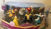 Disney Beauty And The Beast Figurines Playset 7 Pc Collectible Disneyana