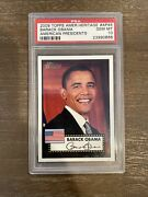 A Topps American Heritage Barack Obama Psa 10 - Classic 1952 Topps Style