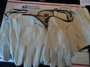 10 Pairs Cowhide Leather Work Gloves, Xxl