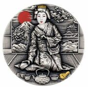 2019 Niue Geisha Japanese Culture 2oz Silver Coin 2 - New In Box - Only 500