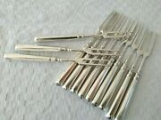 12 Fourchettes 2 Dents Argent Massif Russe Russian Silver Forks 1889 Kuzmichev