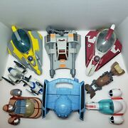 Star Wars Galactic Heroes Vehicle Lot Starfighters Snowspeeder Bikes And More