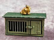 John Hill And Co Pre War Lead Rabbit Hutch With Rabbit.