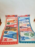 Vintage Complete Set 1970and039s Nfl 28 Team Mini Pennant Afc Nfc Sealed