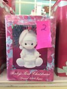 Precious Moments Ornament Babys 1st First Christmas 1991 Boy/playing Drum 527092