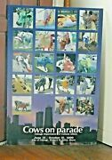 Chicago Major Daley 1999 Cows On Parade Commemorative Poser On Matting