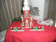 New England Village - Old North Church And Walls - Retired 1998 5932-3 Dept 56
