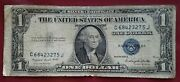1935 G Blue Seal 1 One Dollar Silver Certificate Bill Old Paper Money Usa Note