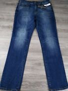 Liverpool Menand039s The Slim Straight Jeans Stretch Blue Denim Size 34x34 New