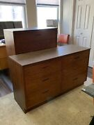 Mid Century Modern Six Drawer Low And Four Drawer Tall Dresser By Lane Furniture