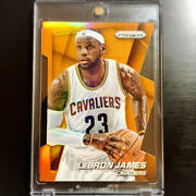 Used Nba Lebron James Cavaliers 23 Prizm Trading Cards With Plastic Case