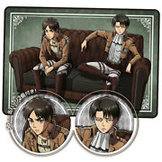 [anime Goods] Attack On Titan Blanket With Can Badge/eren Yeager/levi Ackerm/new