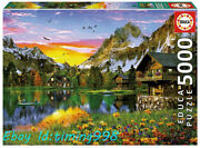 Educa Alpine Lakes Golden Sunset 5000puzzle Adult Stress Relief Rare New Sealed