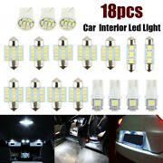 18x Car Interior Package Map Dome License Plate Mixed Led Light Accessories Kits