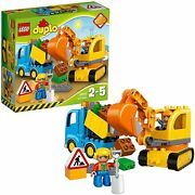 Lego Duplo Town Trucks And Excavators 10812 Block Toys From Japan Brand New
